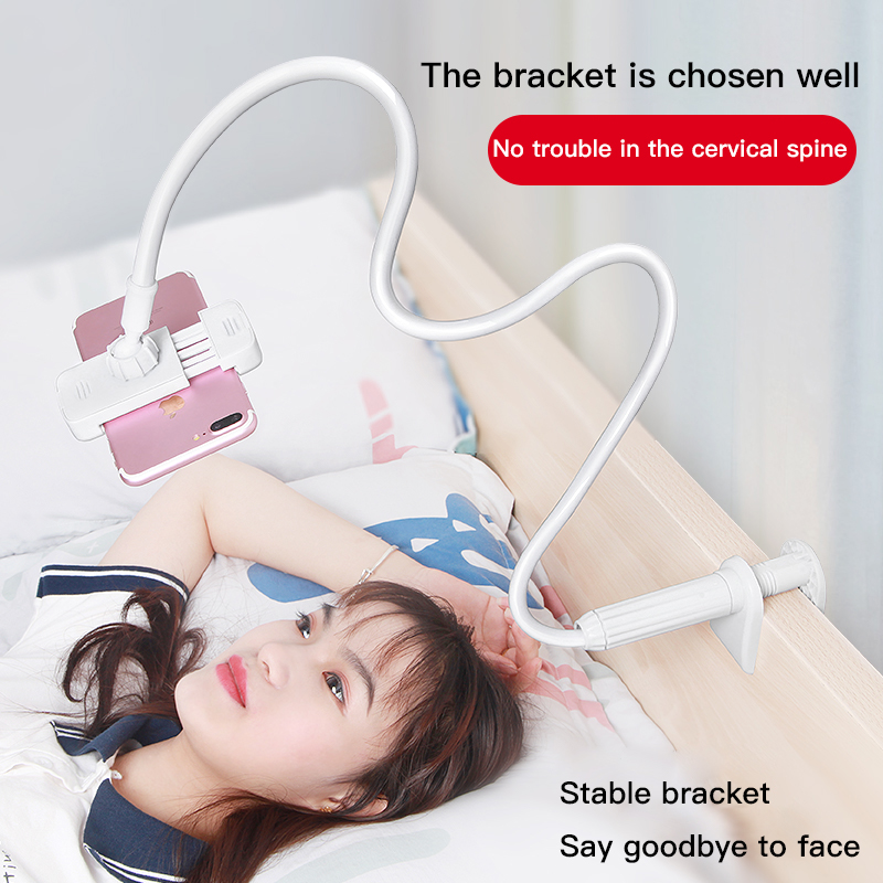Universal 360 Rotating Flexible Arm Phone Holder Desktop Bed Lazy Tablet Clip Bracket Mobile Stand Support For IPhone Samsung