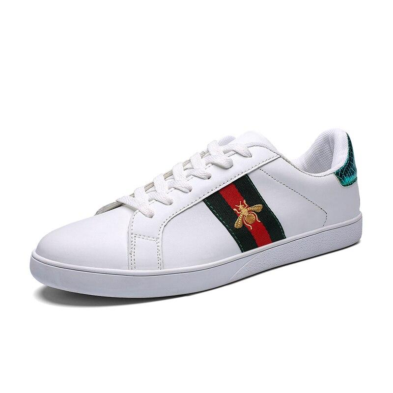 Chaussures de skateboard unisexe hommes chaussures de sport femmes petites abeilles chaussures blanches marque confortable 35-46 chaussures hommes pas cher baskets hommes