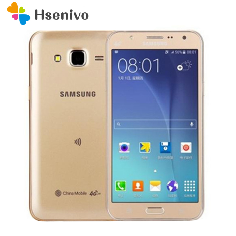 100% Original Samsung Galaxy J7 Unlocked Mobile Phone 5.5 Inch Octa-core 13.0MP 1.5GB RAM 16GB ROM 4G LTE Cell Phone Refurbished