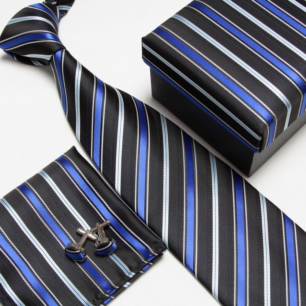 Мужская мода высокого качества захват набор галстуков галстуки запонки шелковые галстуки Запонки карманные носовой платок