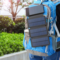 20000MAH Foldable Dual USB Solar Power Bank Portable Outdoor Travel Battery Fast Charger Supply For Smartphone
