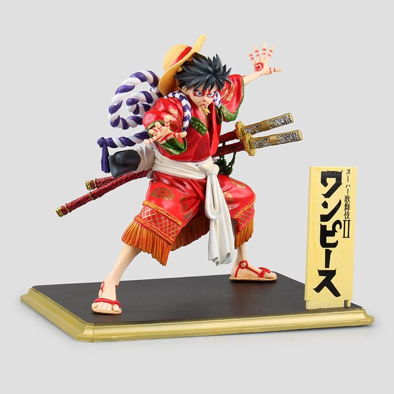 цены One Piece Luffy POP Kabuki Edition Gear Fourth Monkey D Luffy Figure Gum-Gum Fruit  Action Figure Model