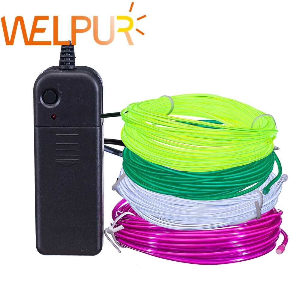 Flexible Neon Light 1m/3m/5M 3V Glow EL Wire Rope tape Cable Strip LED Neon Lights Shoes Clothing Car waterproof led strip(China)