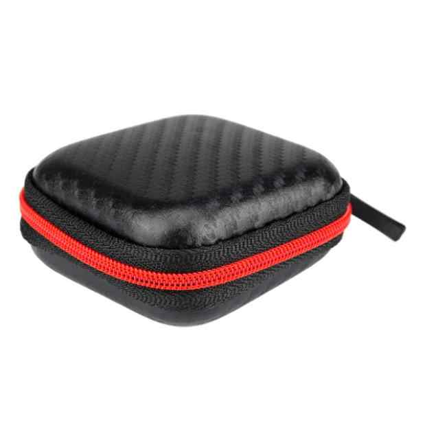 VOBERRY Portable Mini Square Hard Storage Case Bag For Earphone Bluetooth Headphone SD TF Cards