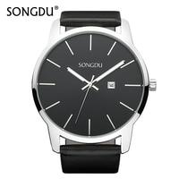 SONGDU Water Resistant Watch Men S Ultra Large Dial Date Quartz Wristwatches Top Fashion Brand Male
