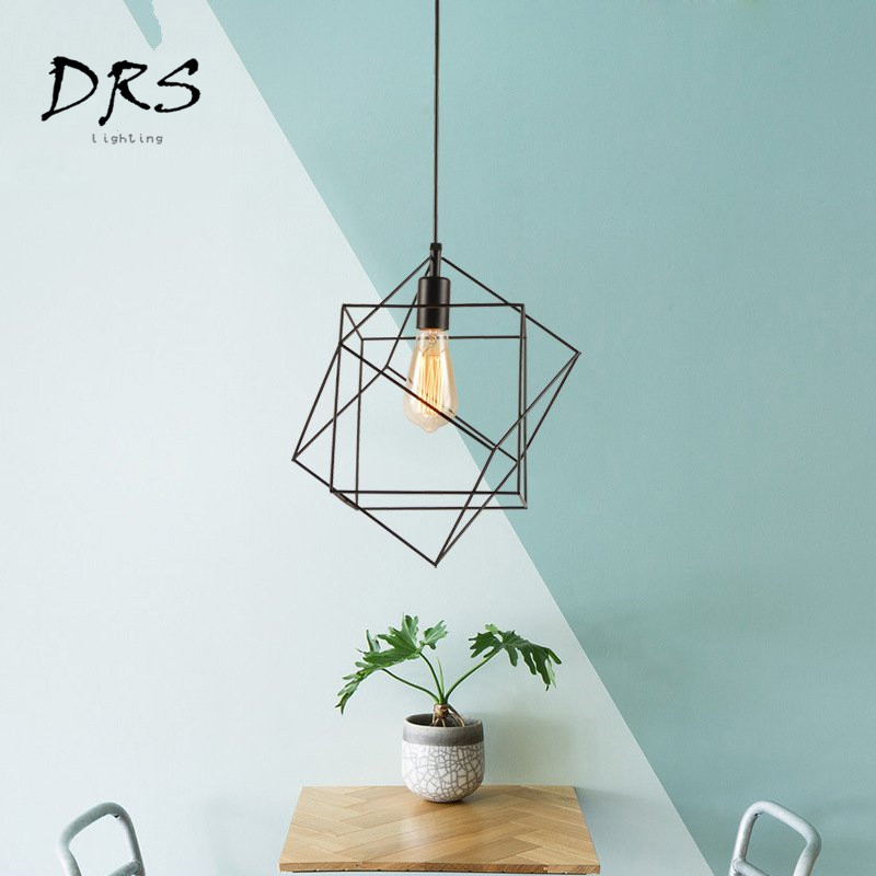 Iron Diamond Wrought Ceiling Lamp 0-60W Vintage Cage Light Restaurant Bedroom Night Light Indoor Demands Decorations Arts LampIron Diamond Wrought Ceiling Lamp 0-60W Vintage Cage Light Restaurant Bedroom Night Light Indoor Demands Decorations Arts Lamp