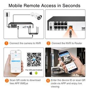 Image 4 - Techege 8CH 1080P POE NVR 키트 2MP 오디오 PoE IP 카메라 H.265 CCTV 시스템 실외 방수 이메일 경고 비디오 감시 키트