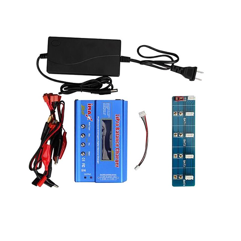 4 Battery Parallel Charge Charging Plate Board with Imax B6 Charger for YUNEEC Q500 Quadcopter rc charger parallel charge board for jst xh