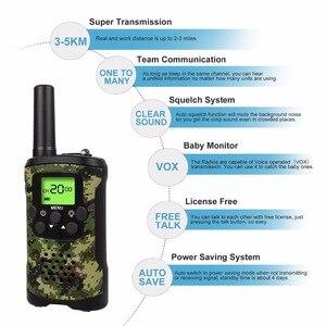 Image 4 - Przenośny Mini dzieci walkie talkie zasięg do 6km 8/20/22CH FRS/GMRS400 470MHZ Camo dwa radiotelefony domofon prezenty dla dzieci