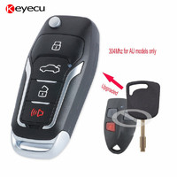 Keyecu Replacement Upgraded Flip Car Remote Key Fob 304MHz 4D60 For Ford Falcon FPV XR6 XR8
