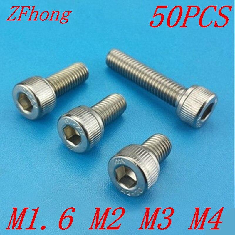 M1.6 M2 M2.5 M3 A2 STAINLESS STEEL ALLEN BOLT SOCKET CAP SCREWS HEX HEAD DIN 912