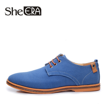 New 2017 Fashion Spring Summer Casual Men Shoes Men Lace-up Flats Breathable Men Canvas Shoes Size 38-48