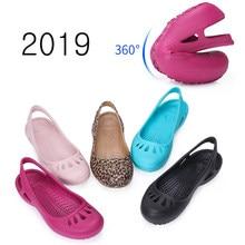 ff3858011 women Clogs Jelly Sandals Home Non-slip Summer Hole Shoes Female Flat  slippers Plastic Female Girls Waterproof EVA Garden Shoes