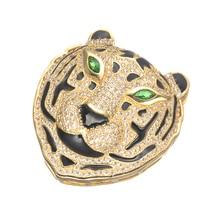 35*37mm micro pave tigre cabeza encantos para hacer la joyería diy artesanía brillante circón colgantes conectores para collar bijoux bedels