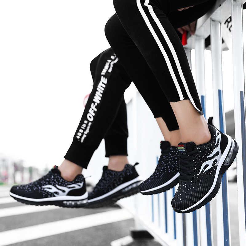 รองเท้าวิ่งผู้ชายผู้หญิงวิ่งกีฬารองเท้าชายหญิงหญิง 2018 ยี่ห้อจีน Slimming Air Mesh Breathable รองเท้า