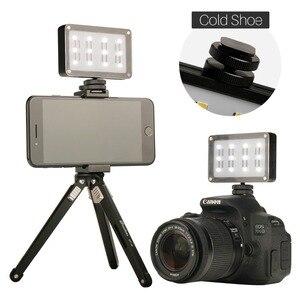 Image 5 - מיני LED וידאו אור Bulit בסוללה עם מסנני סופר בהיר מילוי צילום תאורה עבור DSLR מצלמות חתונה הקלטה