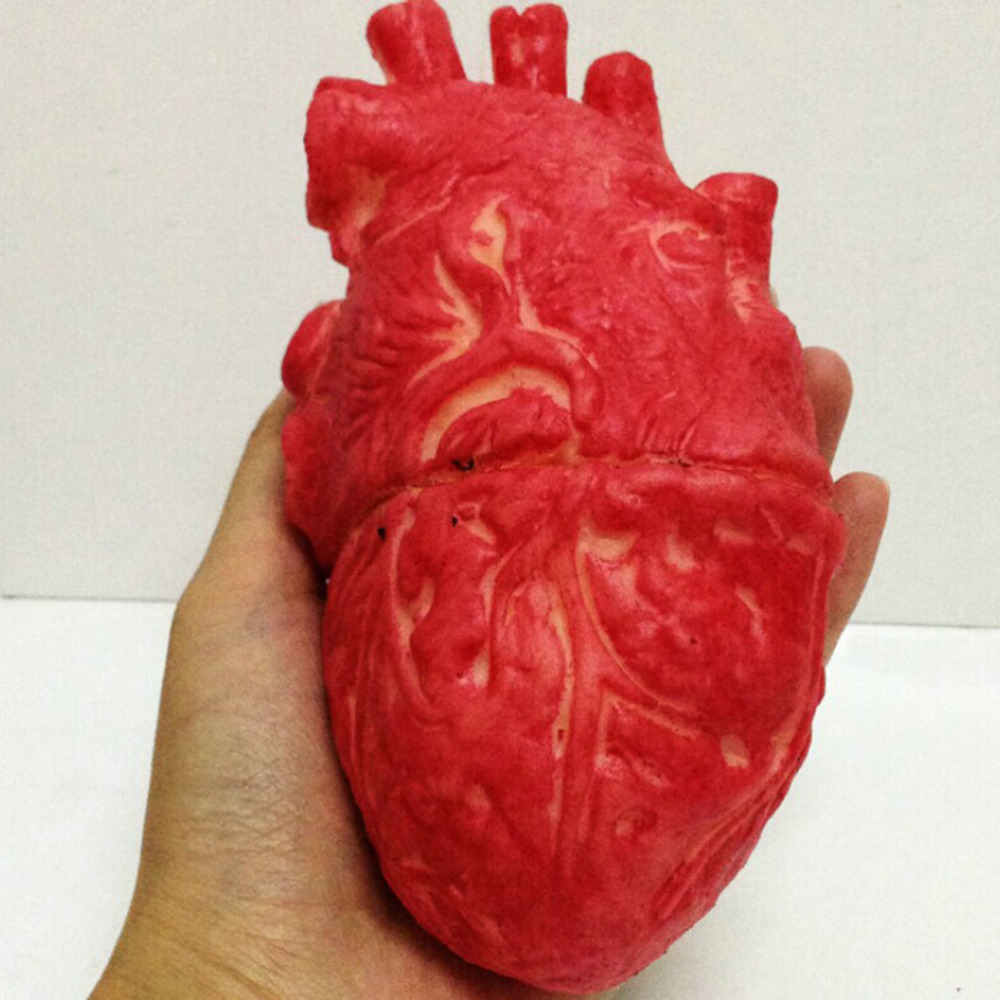 1pc halloween horrible bloody severed horror scary human heart lifesize scary fake rubber gory body part - Gory Halloween Decorations