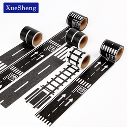 48mmX5m Railway Road Paper Washi Tape Wide Creative Traffic Road Adhesive Masking Tape Road for Kids Toy Car Play