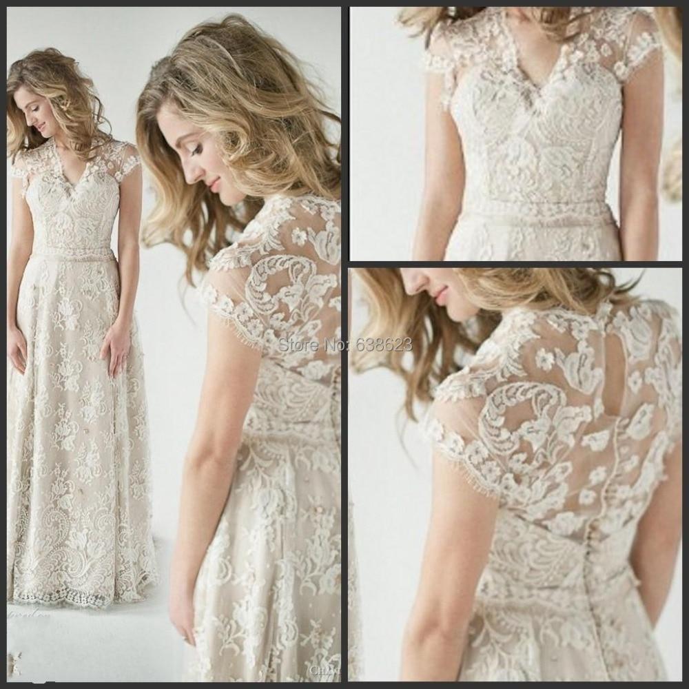 Wedding Vintage Inspired Dresses popular vintage inspired wedding dresses buy cheap daw1595 wholesale lace back a dress summer beach