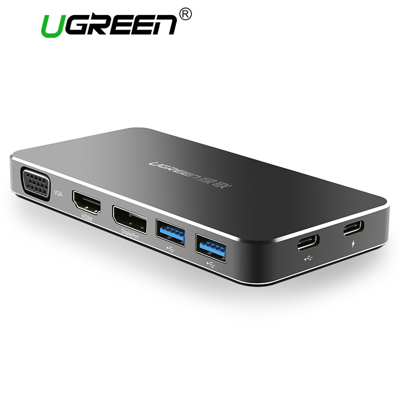 Ugreen USB-C Adapter All in One Typ-C bis 3,0 HUB/HDMI/VGA/DP konverter mit PD Ladeanschluss für MacBook/Pro 2015 USB C konvertieren