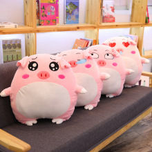 1PC 28cm Cute Expression Pig Plush Toys Doll Soft Stuffed Cartoon Animal Piggy Pillows Baby Sleeping Dolls Kids Christmas Gift