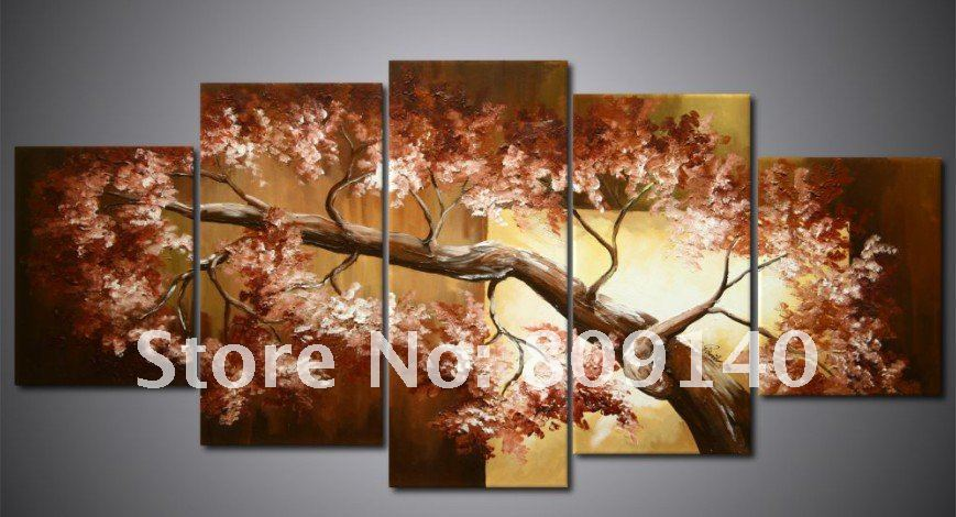 Oil Painting Canvas Brown Tree Landscape High Quality