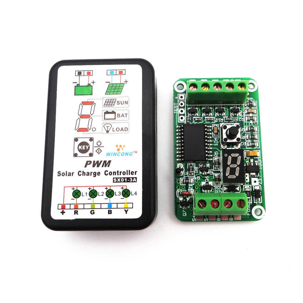Солнечный Зарядное устройство контроллера 6 в, 12 В, 24 В постоянного тока 48В 60В 3,7 V 12,8 V 11,1 V 14,8 V 22,2 V 3/10/20/30A-зарядное устройство для литий-ионного, LiFePO4 Батарея Панели солнечные
