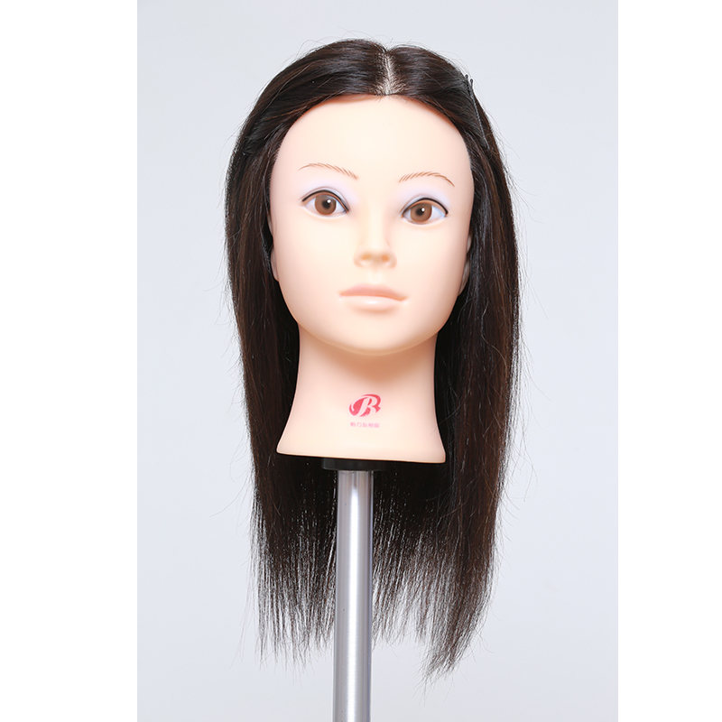 Hot Sale Training Mannequin Head With 100 Human Hair 14 Inch Natural Black Cosmetology Hairdressing Doll Manikin Head HairstylesHot Sale Training Mannequin Head With 100 Human Hair 14 Inch Natural Black Cosmetology Hairdressing Doll Manikin Head Hairstyles