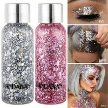 Holographic Body Glitter Festival Makeup Gel Face Hair Lip Cream Mermaid Sequin Tattoo Pigment Art Cosmetic