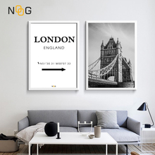 NOOG Nordic Landscape poster Wall Art London Tower Bridge Canvas Poster And Painting For England Home Decorative