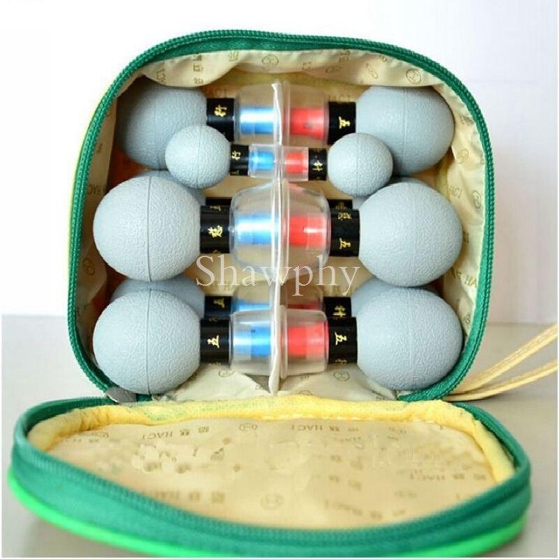 18 stücke/12 stücke/8 stücke Haushalt Vakuum Magnetische Therapie Saugnapf Meridian Akupunktur Moxibustion Schröpfen Detox Körper massager Set
