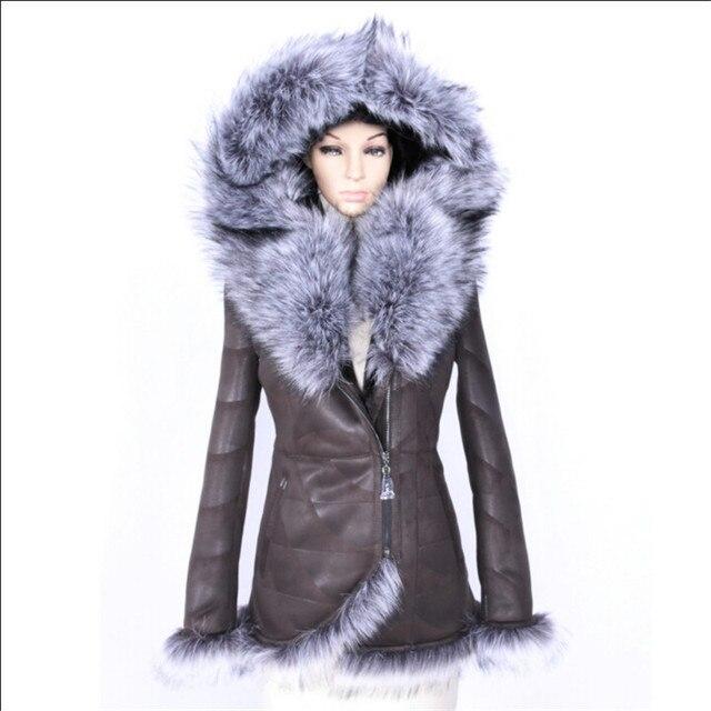 517f1fa950c S-5Xl Plus Size Women Winter Faux Fur Coat Luxury Imitation Faux Fur  Leather Heavy