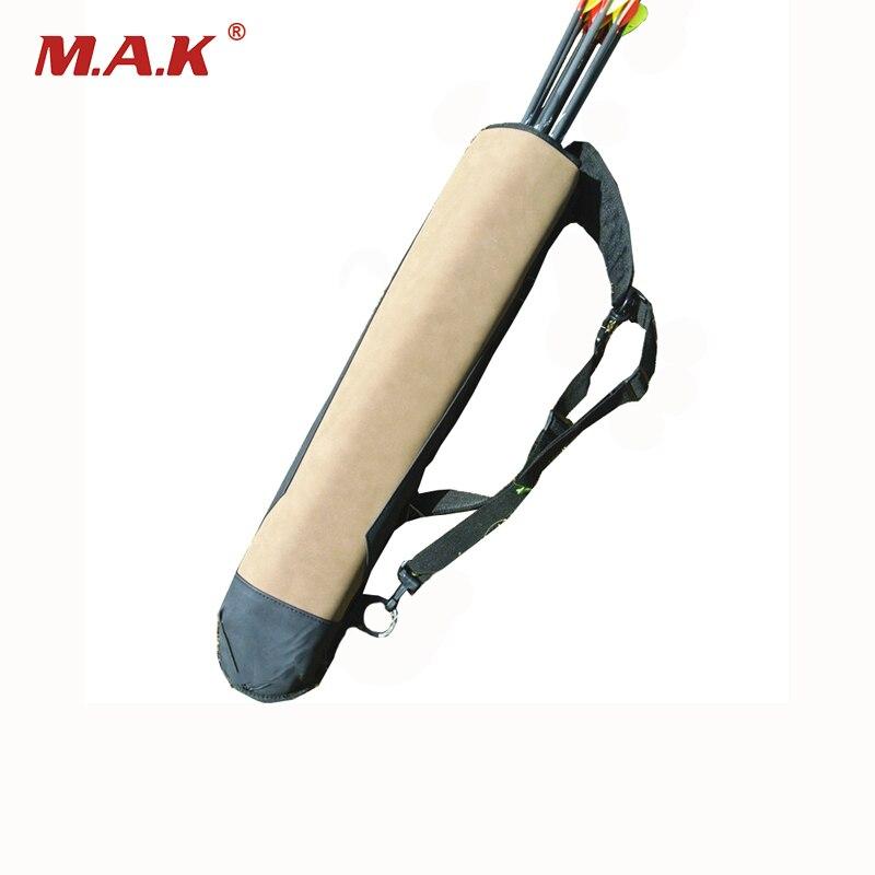 Высокое качество 58x13 см кожаный колчан супер Волокно стрелка мешок для Открытый стрельба из лука лук Охота Стрельба