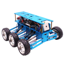 High Quality 6WD Off-Road Robot Car With Camera For Arduino UNO DIY Kit Robot For Programming Intelligent Education And Learning doit w3 smart robot car platform with omni universal wheel high hardness of steel for arduino diy