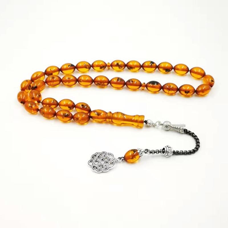 Rosário de insetos 33 pulseiras musulares, presente para homens, pulseiras islâmicas de misbaha, pulseiras islâmicas