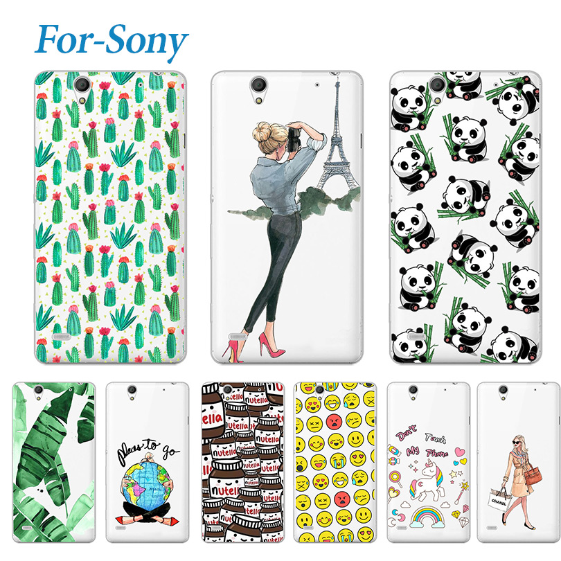Fashion Young Soft Phone Case For <font><b>Sony</b></font> <font><b>Xperia</b></font> C4 <font><b>E5333</b></font> E5303 Lovely Silicone Soft TPU Cover Cases For <font><b>Sony</b></font> <font><b>Xperia</b></font> C4 image