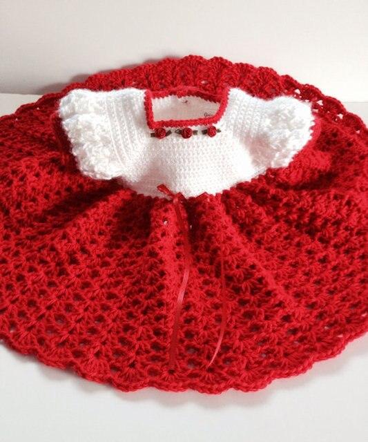 Rote Prinzessin Baby Kleid Häkeln Verwenden In Rote Prinzessin Baby