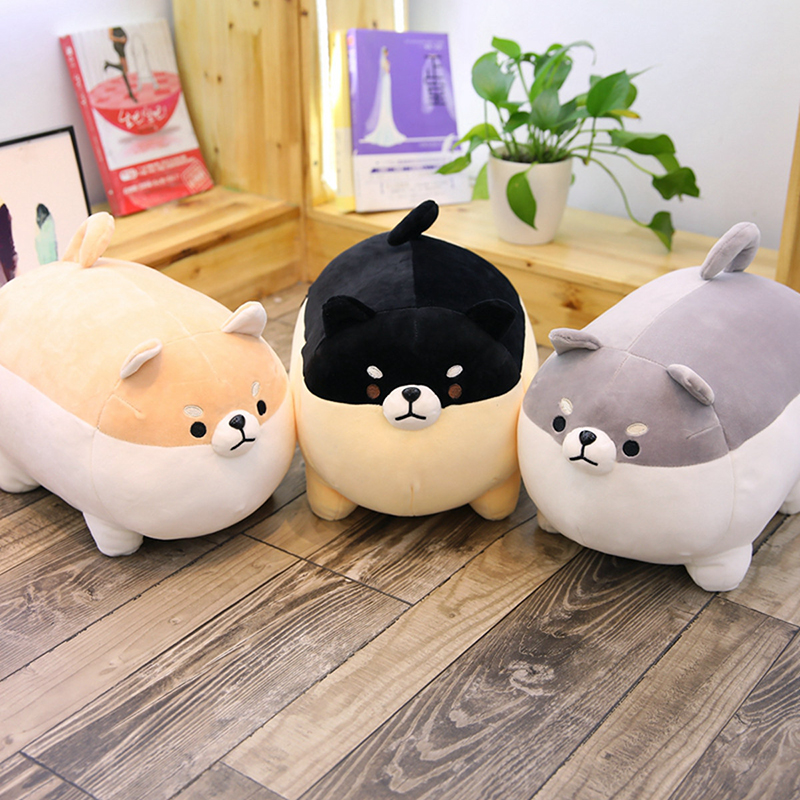 40/50cm Cute Shiba Inu Dog Plush Toy Stuffed Soft Kawaii Animal Cartoon Pillow Lovely Gift For Kids Baby Children Good Quality