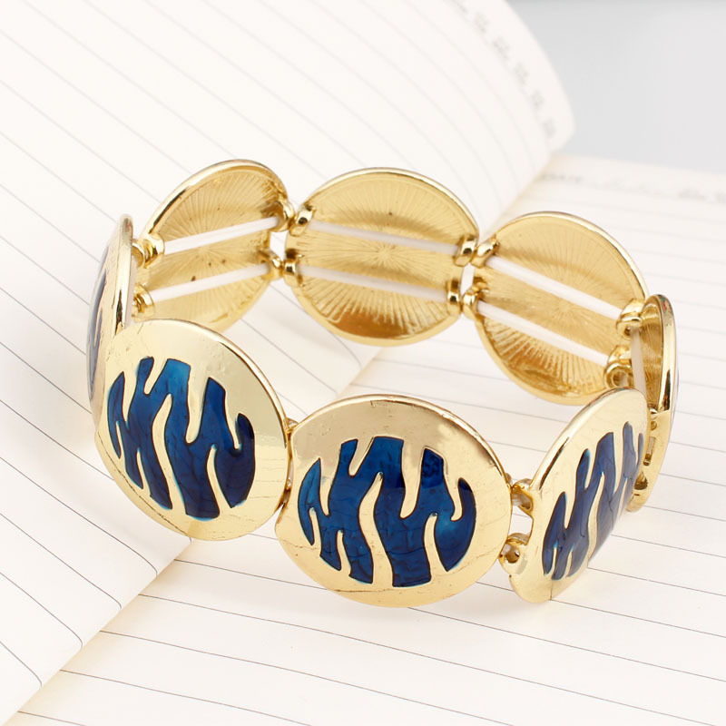 Back To Search Resultsjewelry & Accessories Top Quality Elastic Bangles Alloy Blue Enamel Round Bangle Fashion Jewelry Wholesale S72 To Win Warm Praise From Customers