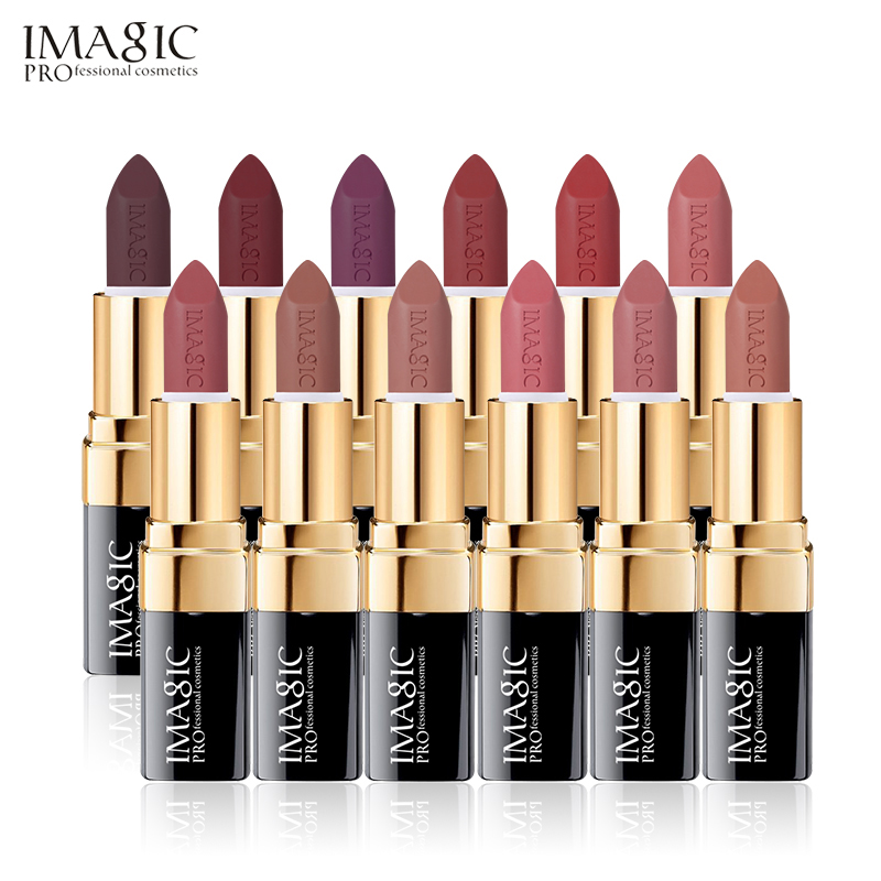 IMAGIC 12 Colors Makeup Matte Lipstick Nude Lips