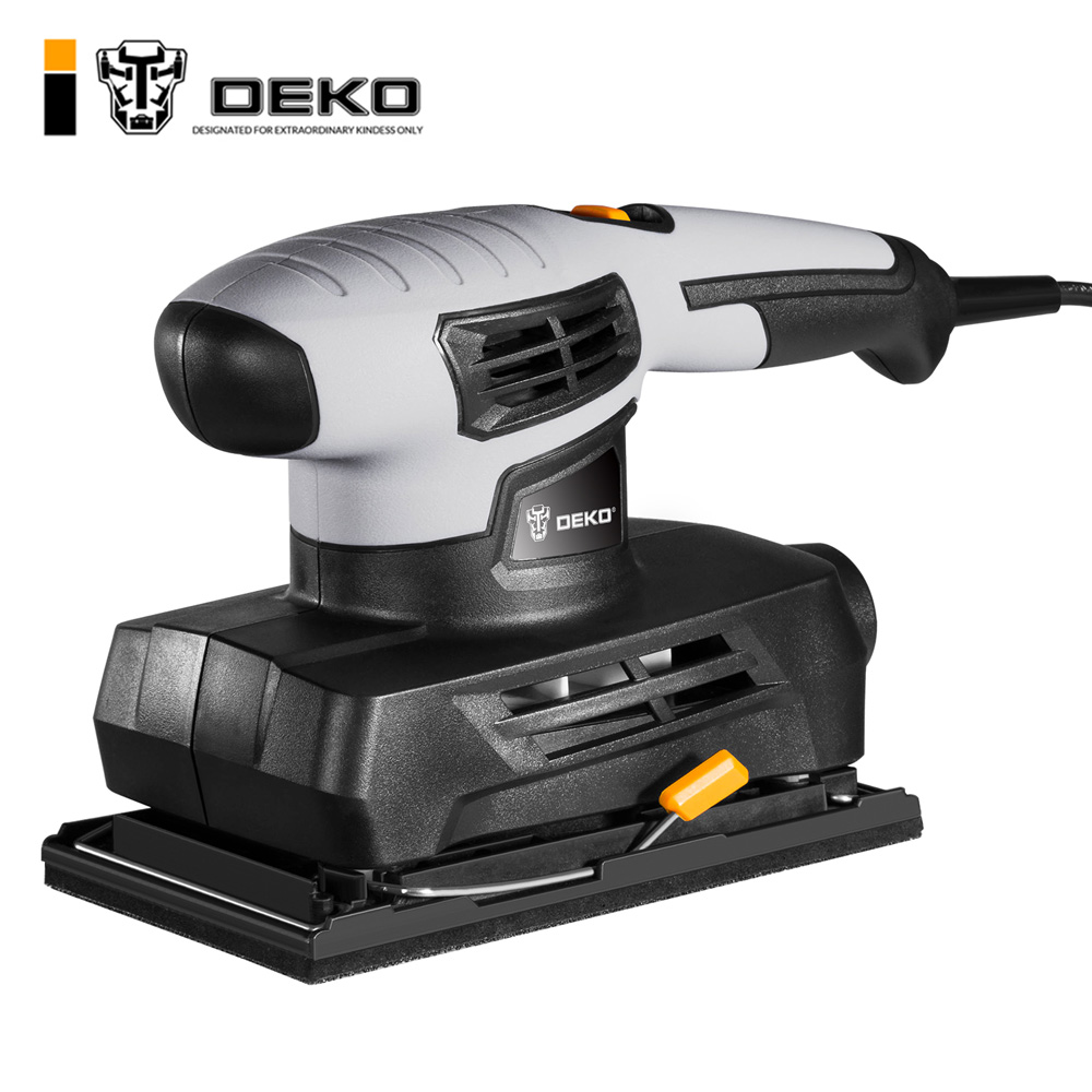 цена на DEKO Sheet Sander with 15 Sheets of sandpaper and Dust exhaust Power Tools Electric S