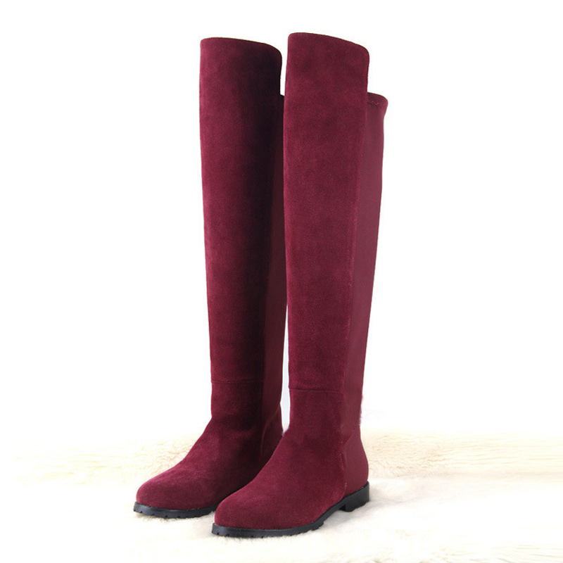 f06c8e0810e over knee boot flat heel suede boots 2015 new women snow fashion winter  footwear warm long boot shoes-in Over-the-Knee Boots from Shoes on  Aliexpress.com ...