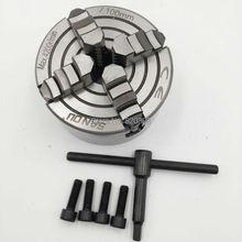 4 Niezależne Chuck M8 Cztery Szczęki Szczęki Tokarskie CNC Clathe K72-100 dla CNC Uchwyt Nowy