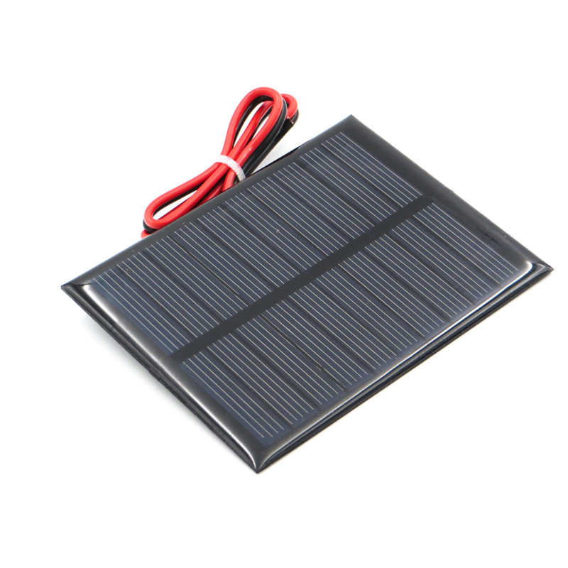 Fansaco 5V 200mA Portable Solar Panel Polycrystalline Silicon DIY Battery Sunpower Panel Power System Mini Solar Cell With Cable