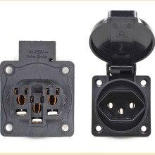 10pcs, 50x50mm,  IP54 Swiss waterproof socket,15A250V 3 hole socket.High quality, free shipping