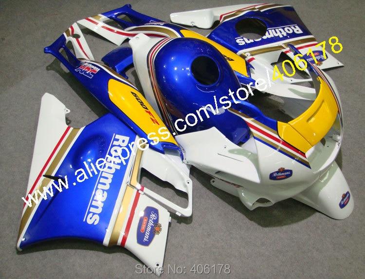 Горячие продаж,мотоцикл обтекатели для Honda CBR600 F2 на 91 92 93 94 CBR600F2 1991 1992 1993 1994 обтекатели ЦБ РФ 600 ротманс установить