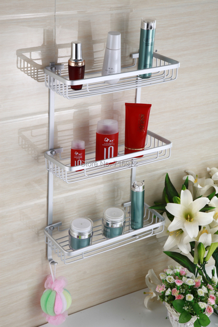 Good Quality Free Shipping Wall Mounted Three Layers Bathroom Shelf ,Shelf  For Bathroom, Bathroom