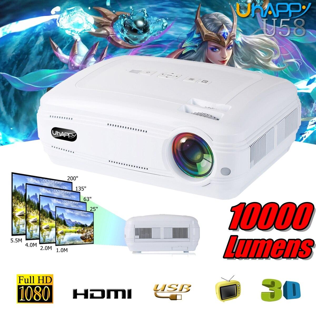 10000 люмен 1080 P 3D светодиодный дома Кино Театр проектор ТВ/\ AV/VGA/HDMI Мультимедийный проектор