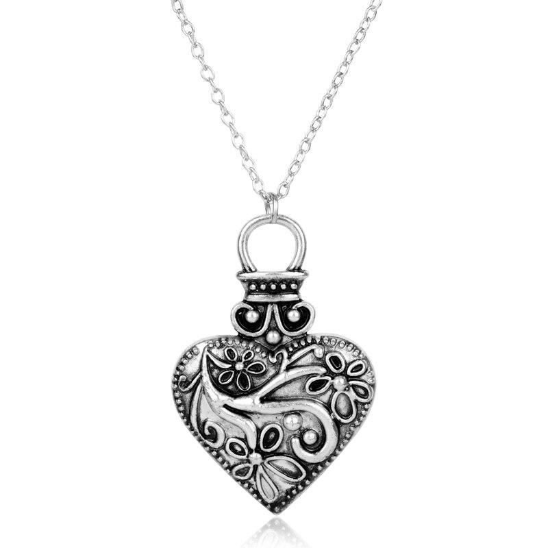 Vampire Diaries Caroline Forbes Luminous Star Heart Silver Necklace /& Pendant