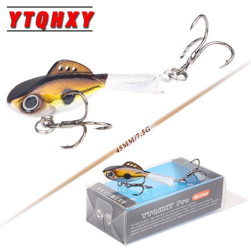 YTQHXY Ice Fishing Lures 45mm 7.5g Sinking Winter Hard Bait Carp Fishing hooks Lead Jigging Wobblers Balancer for Fishing YE-477 nils master baby shad 5cm vertical jigging ice fishing lures
